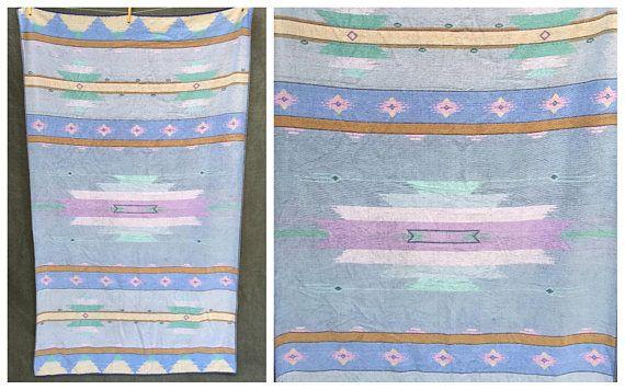 Vintage Seven Seas Beach Towel Southwestern Tribal Art  XL