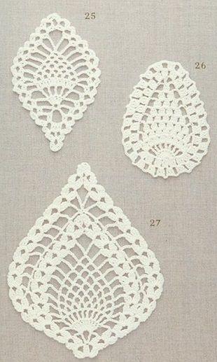 Pineapple Crochet Motifs  http://www.crochetkingdom.com/pineapple-crochet-motifs/