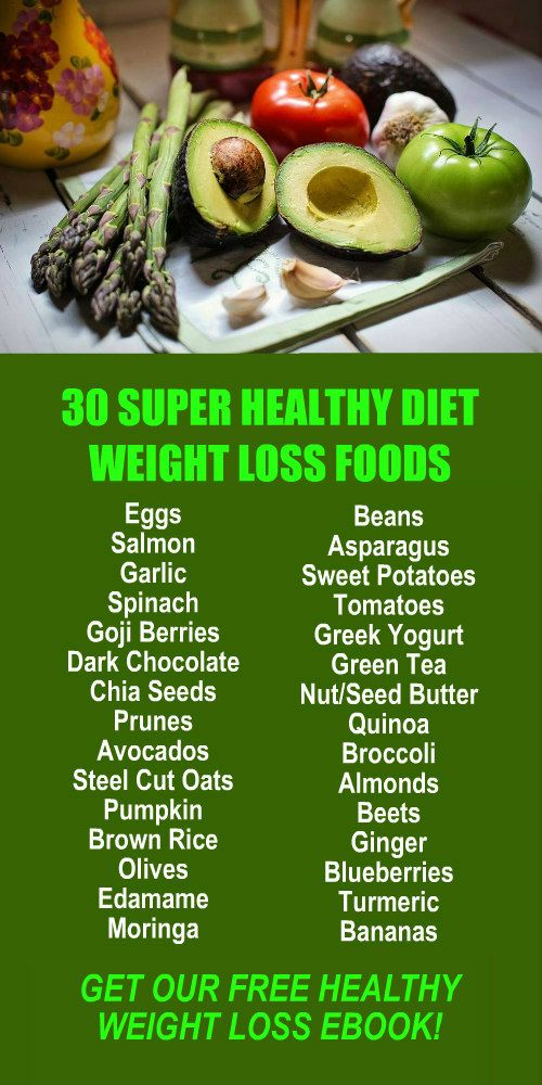 30 Super Healthy Diet Weight Loss Foods. Get our FREE eBook with suggested fitness plan, food diary, and exercise tracker. Learn about Zija's alkaline rich, antioxidant loaded, Moringa based weight loss products that help your body detox, cleanse, increas