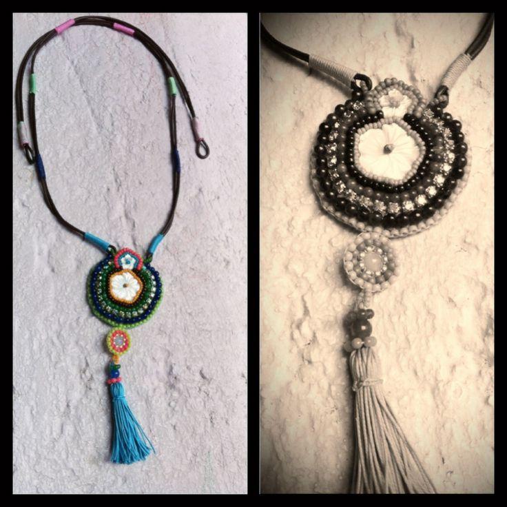 Handmade jewelry - Leather Necklace https://www.etsy.com/es/shop/CarolinaRuizJewelry?ref=si_shop https://www.facebook.com/CarolinaRuizJewellery