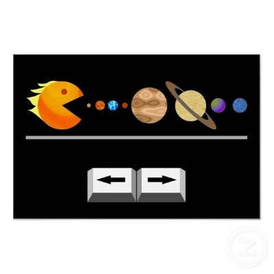 Funny game with planets