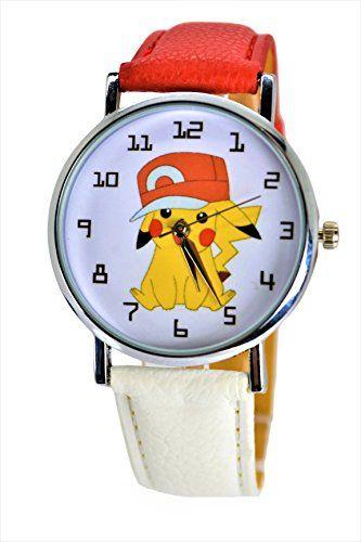Pokémon Pikachu Unisex Cute Quartz Analog Wrist Watch For Children. X Large Modern Dial. – Pokemon Watch