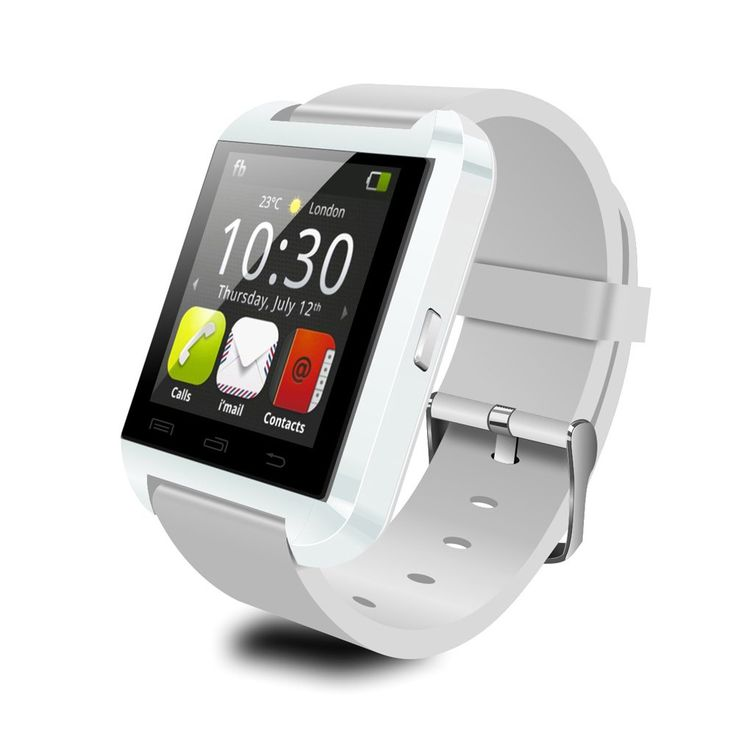 Chinatera Original U8 Bluetooth Wrist Smart Watch Phone for Android iPhone (White). Can set 5 alarm clocks.Call log: You can see the missed calls of your phones, dialled numbers.Get your facebook, whatsApp, twitter, e-mail notifications once you install the apk. When U Watch is connected with mobile phone, it gives an alarm when the distance is more than 15m. Listen to music on the U8 straight from your smartphone via bluetooth.Read and receive SMS text messages.Power saving for longer…