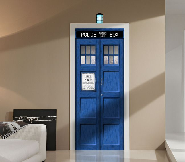 WG129   Doctor Who TARDIS Fathead Style Wall Graphic