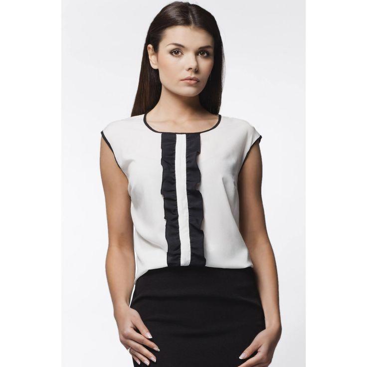 Bluza eleganta fara maneci Awama #bluzedama #bluzeoffice #bluzadama