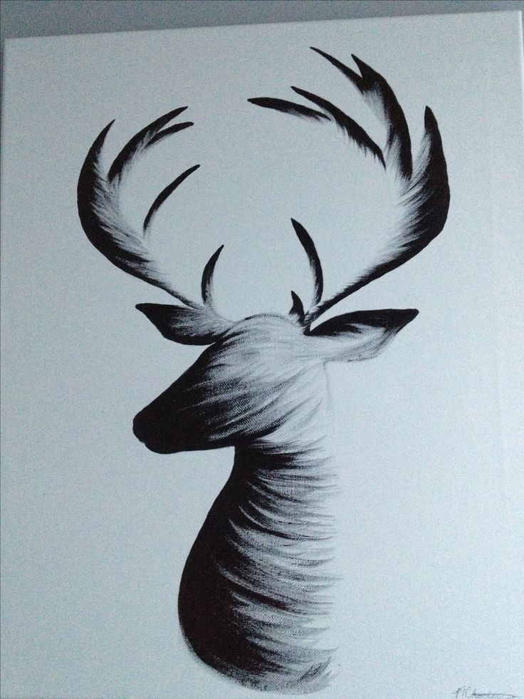 deer antlers drawing easy - photo #34
