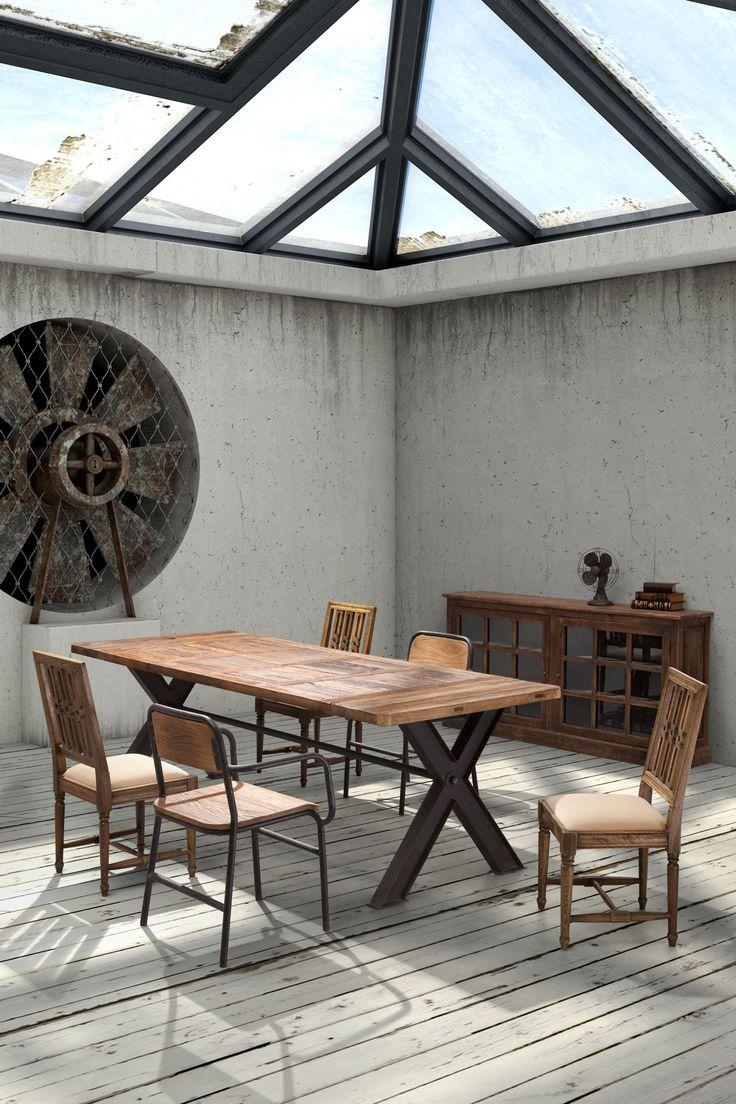 Haight Ashbury Distressed Natural Table