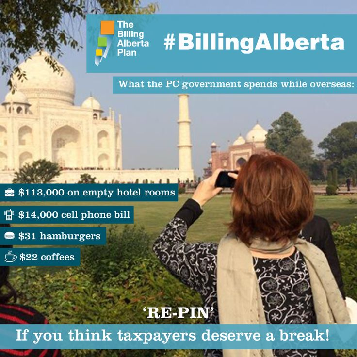 While it's important for a Premier to represent Alberta, we expect the government to respect taxpayers. But, the PCs are at it again, racking up lavish expenses while travelling overseas. This time, a $14,000 cell phone bill for Minister McQueen while touring Europe. (http://wildro.se/1rr ) This, in addition to the first-class flights, expensive meals and empty luxury hotel rooms we've become accustomed to whenever Premier Redford and her ministers decide to go overseas…