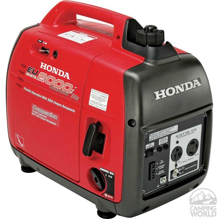 Honda EU2000iA Companion Portable Generator - CARB Compliant - Has one 20-amp plug and one 30-amp plug.
