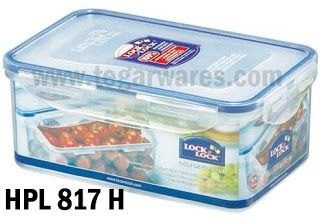 Lock & Lock Lunch box series: HPL 817H: Size 205 x 134 x 84 mm 850ml