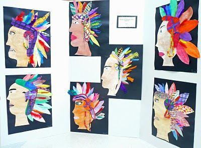 that artist woman: First Nations Headresses - Art Project