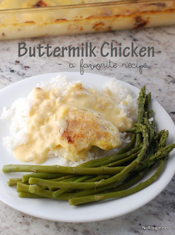 Buttermilk Chicken recipe | NoBiggie.net | pure comfort food and a family favorite recipe. We eat a lot of chicken at our house, and this recipe is always a favorite. Here's a bit of the step by st...