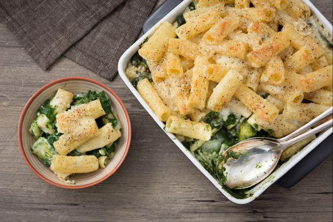 Pasta gratinata con gli spinaci