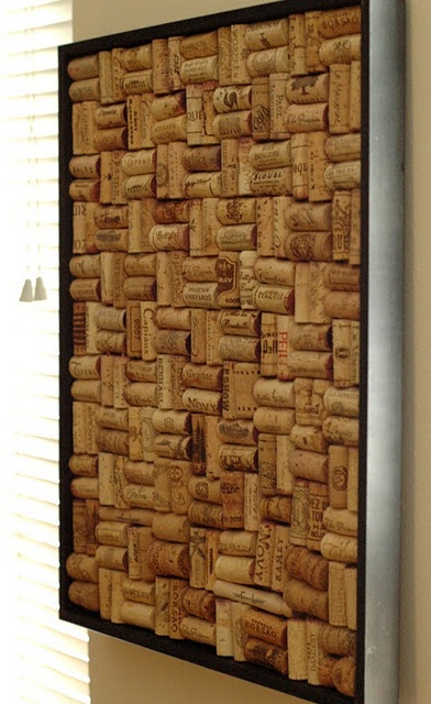 Wine Cork pin board. Looks like ill have to start drinking more
