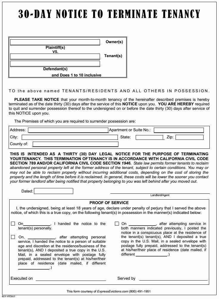 40 30 Day Eviction Notice Form In 2020 Eviction Notice 30 Day