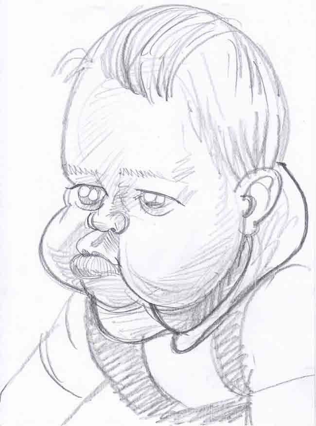 Like the old adage about acting, cartoonists are very wary of drawing animals and babies. There is an extreme likelihood that the caricature will upset the nearest and dearest who see their little human bundle through chocolate box-tinted spectacles.