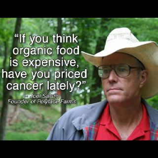 This farmer was AMAZING...the most informed, intelligent, TRUE arguments for eating organic/GMO-free.  Amazing what the government is doing to farmers...despicable. Check him out in Food, Inc.