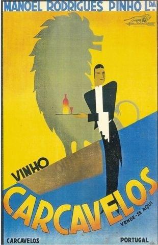 Vintage portuguese wine poster