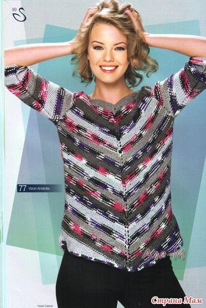 Искала для своих ярких ниточек Alize Forever Batik красивую меланжевую модель, теперь делюсь находками, может кому-то тоже пригодится. Здесь модели из меланжевой и секционной пряжи.