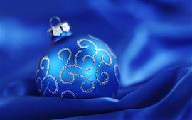 Bleu Boule de Noël fond bleu Fonds d'écran Pictures Photos Images