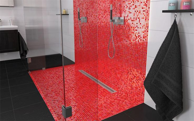 Bricmate R1515 Light Red, vacker röd mosaik | Stonefactory.se