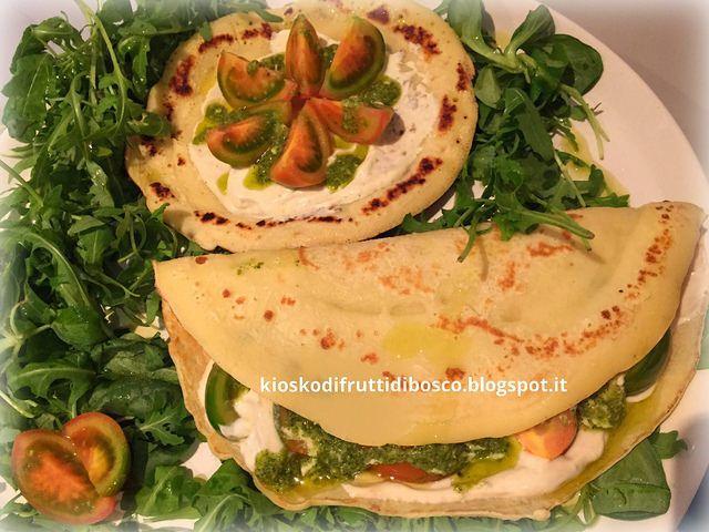 Kiosko di frutti di bosco: Crepes salate con pomodori e salsa yogurt
