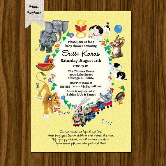Little Golden Books Baby Shower Invitation , Printable Digital File