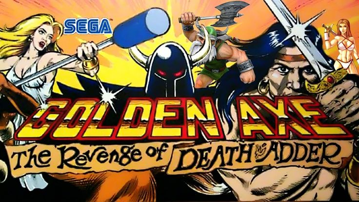 Golden Axe:The Revenge of Death Adder|Arcade|Walkthrough Longplay HD