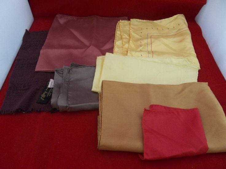 Lot of 6 100% Silk Men's Suit Handkerchief Squares Multi-Colored #Unbranded #Plain  #Silk #Squares #Handkerchief #Solid #Colors #Multicolored #Suit #Mens #eBay