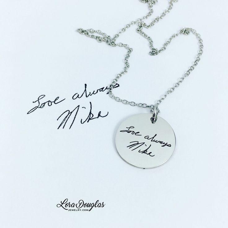 Handwriting Jewelry  #Jewelry #handmadejewelry #LoraDouglasJewelry #handmade #etsy #etsyseller #etsyjewelry #musthave #fashionjewelry #forsale #fashion #trendy #clothing #accessories #style #beautiful  #necklace #handwriting #memorial #family #handwritten