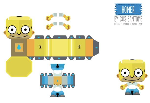 Blog_Paper_Toy_papertoys_Simpsons_Homer_template_preview