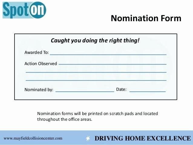 Employee Recognition Nomination Form Template Inspirational 7