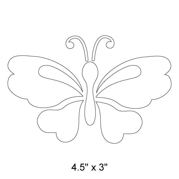 """Paint a beautiful girl's room wall mural with the help of this pretty butterfly wall stencil. Our butterfly wall stencil measures 4.5""""w x 3""""h and is super easy to paint, given the self-adhesive feature of all My Wonderful Walls stencils. Just stick the butterfly stencil to the wall, paint in and remove. We've put the fun into painting with stencils. So simple! Such a pretty end result!"""