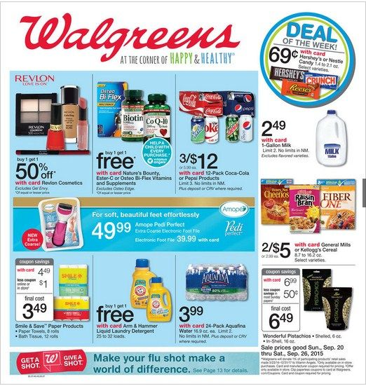 Walgreens Weekly Ad September 20 – 26, 2015 - http://www.kaitalog.com/walgreens-weekly-ad.html