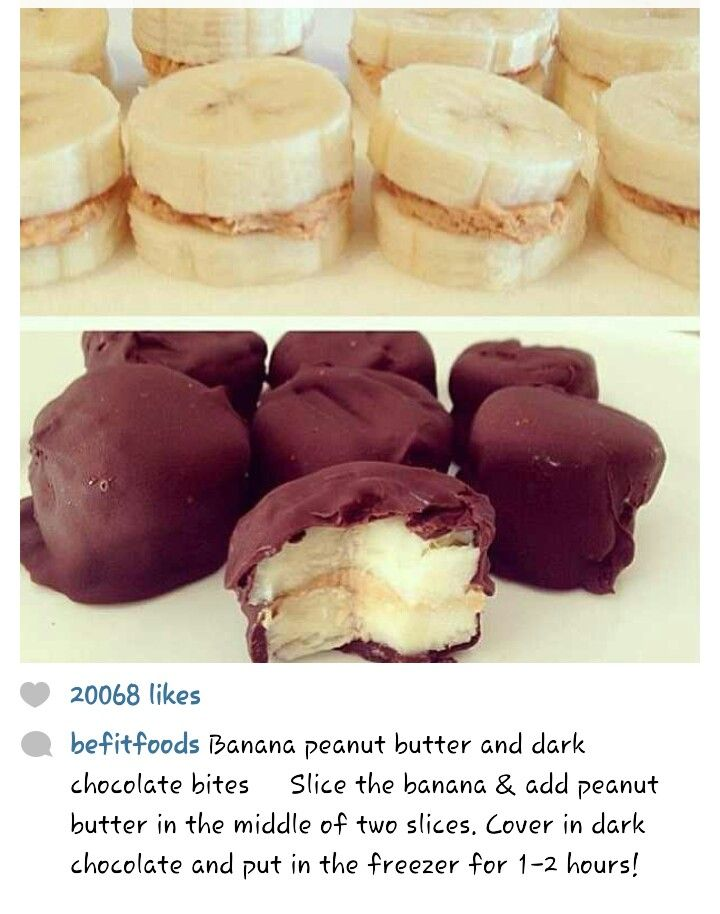 Banana Bites...I'd replace the peanut butter with almond butter but these sound like a great, quick, delicious snack.