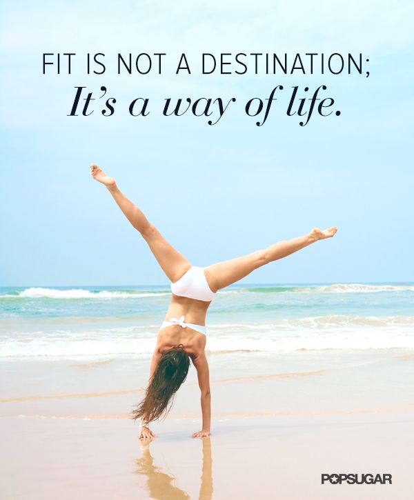 Fit it's not a destination. It's a way of life