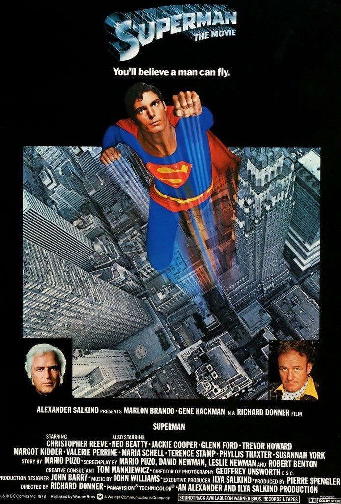 Superman: The Movie (1978) Original English One Sheet Movie Poster