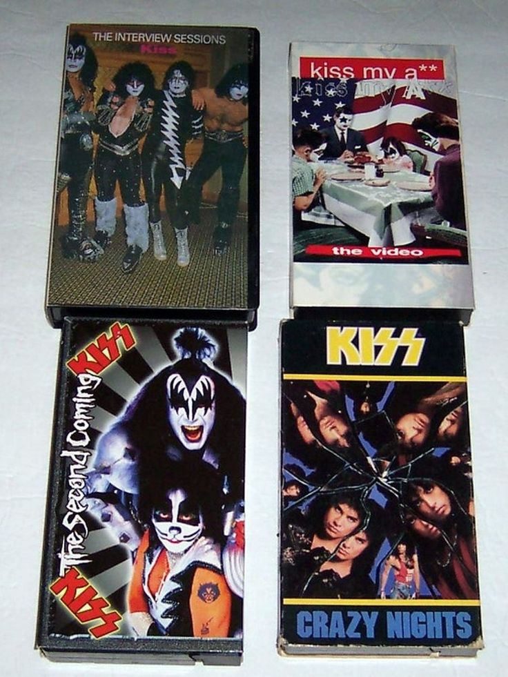 LOT of 4 KISS MUSIC VIDEOS/INTERVIEW VHS TAPES *NEW & SEALED*