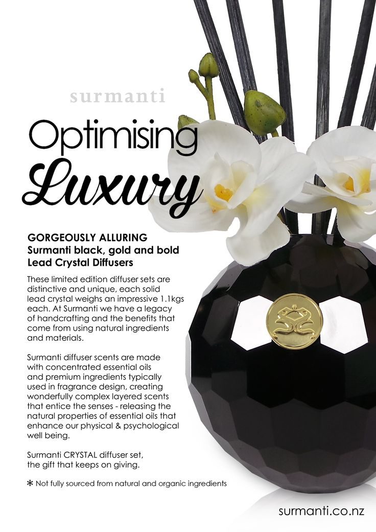 Surmanti Lead Crystal Diffusers.