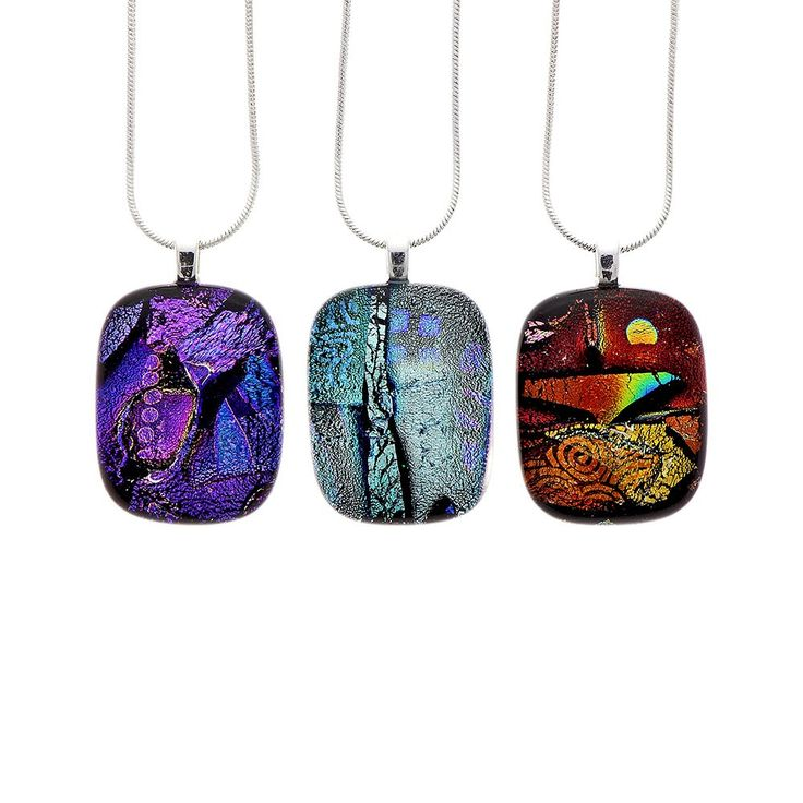 Small unique dichroic glass pendant  | Natural History Museum Online Shop
