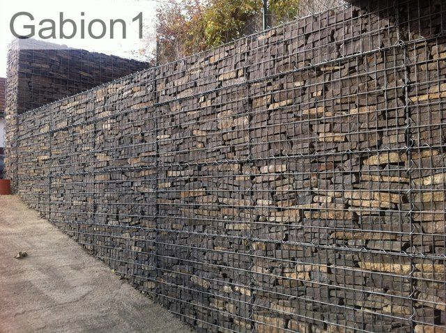 garden stone gabion screen gabion ideas pinterest On steine fur gabionen