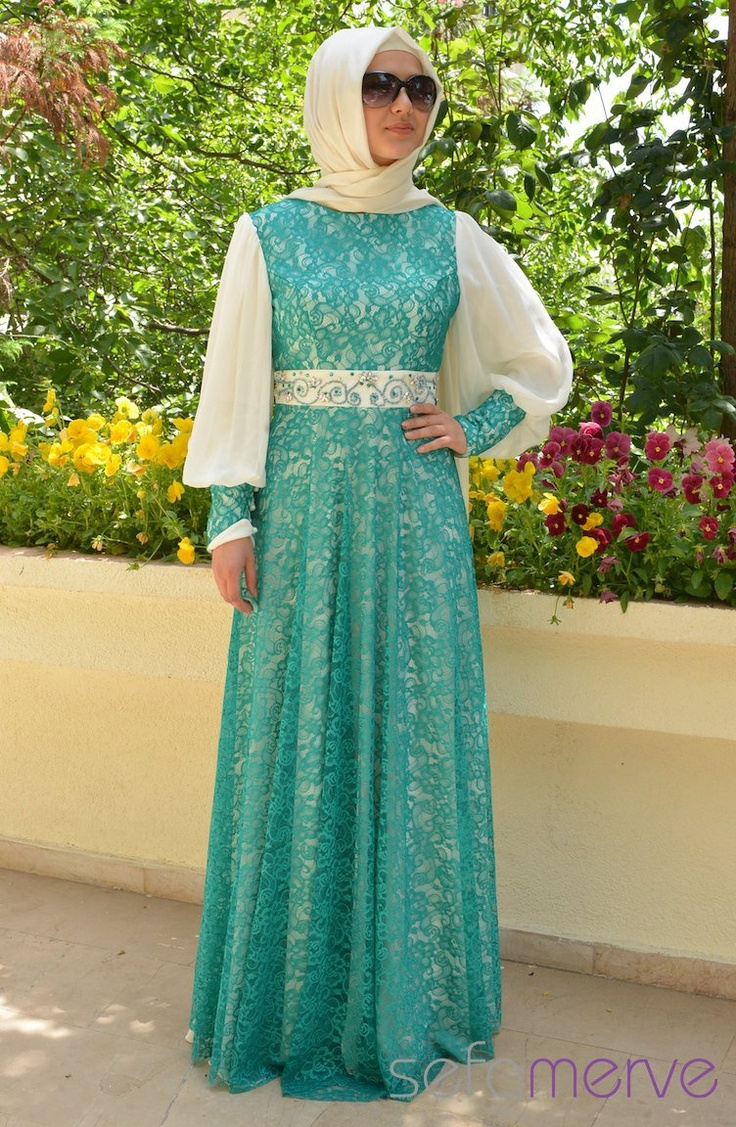 Sefamerve Abiye Elbiseler PDY 3257-04 Petrol - 249.90 TL FINALLY, a place where we can order hijab evening gowns