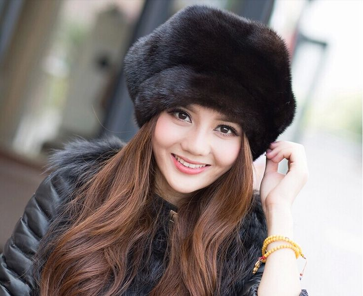 New Arrival 2016 100 High Quality Mink Fur Hat The Whole Skin Middle-aged And Old Casual Fashion Winter Cap For Women