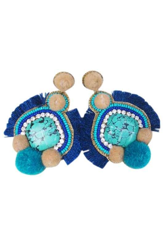 Eb & Ive - Ra Ra Earring Turquoise