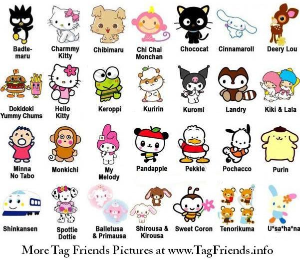 Facebook meme tag: Japanese cartoon characters