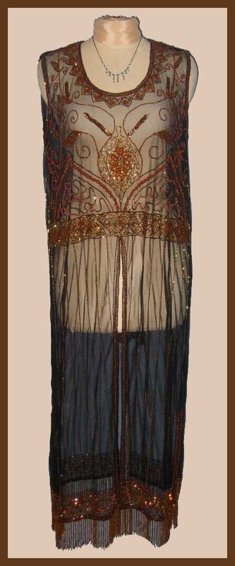 """1920's Reproduction dress """"Patterned after the gown in the fiml Titanic"""""""