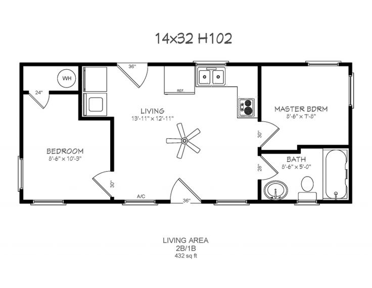 similar design 14 x 32 floor plans
