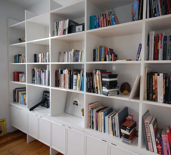 Gloss white library