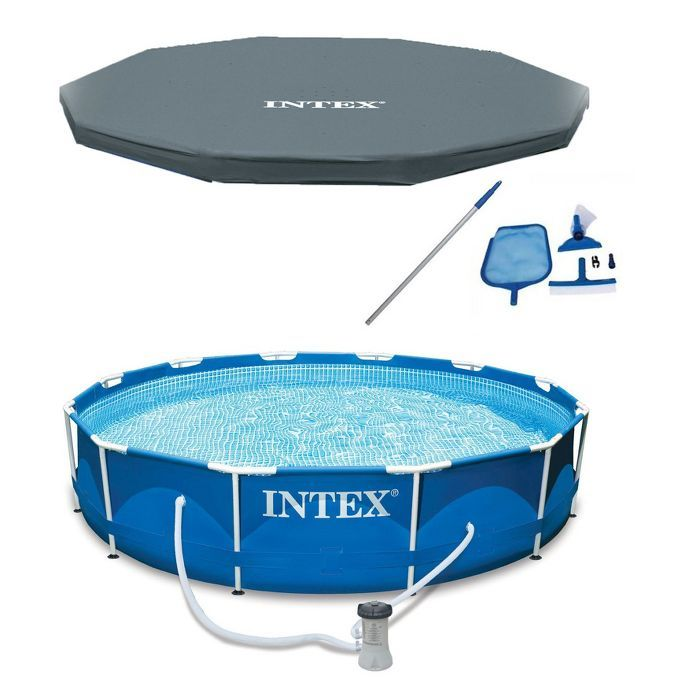 Intex 12 X 30 Metal Frame Above Ground Pool Filter Cover Maintenance Kit Target Intex In Ground Pools Above Ground Swimming Pools
