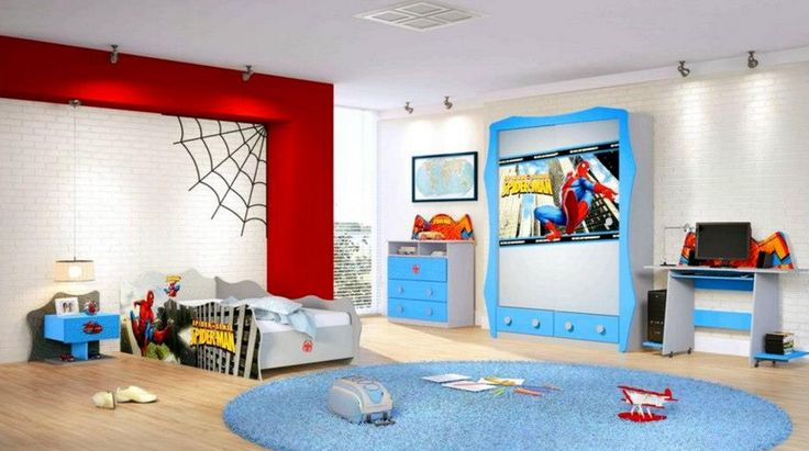 Qui n quiere una rec mara as spiderman recamara kids for Decoracion cuarto para jovenes hombres
